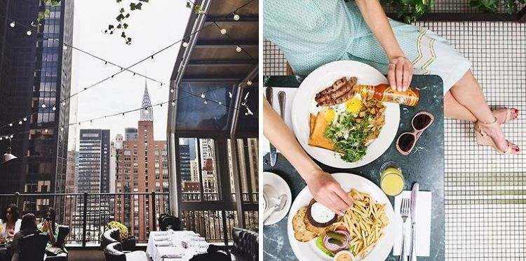The Best Rooftop Brunch Spots In NYC