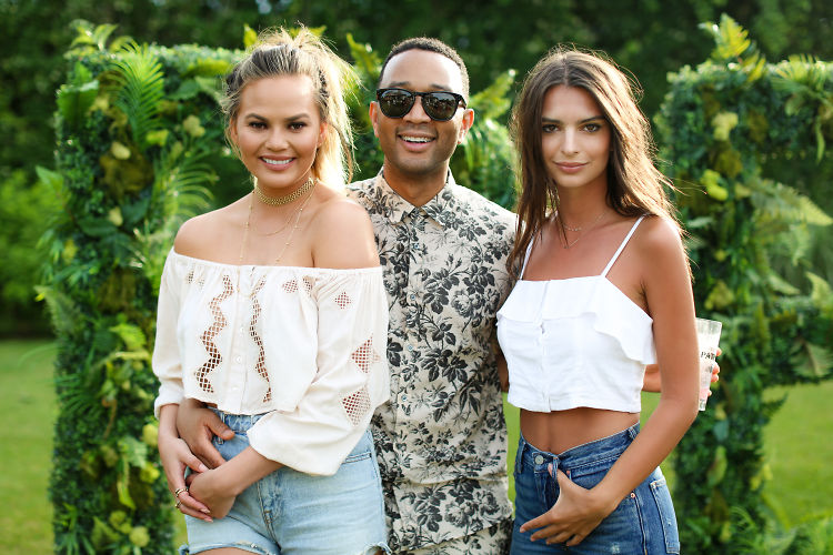 Chrissy Teigen, John Legend & Emily Ratajkowski Party In The Hamptons With REVOLVE