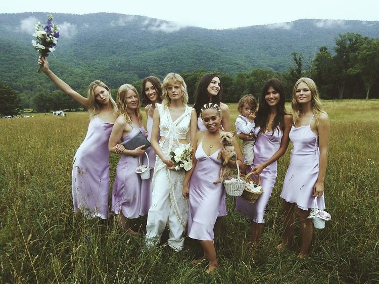 When Two Alexander Wang Models Get Married On A Farm, It Kinda Looks Like This
