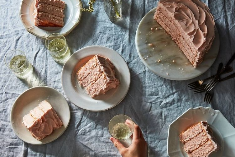 Pink Champagne Cake Is Your New Dinner Party Staple