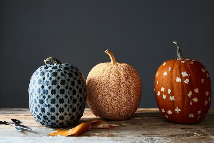 How To: Fabric Covered Pumpkins Are A Chic Alternative To Jack-O-Lanterns