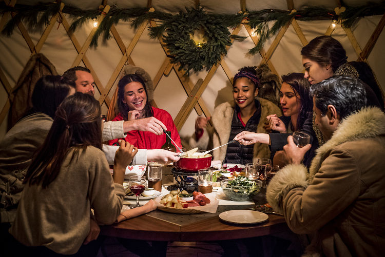 Book A Fondue Feast Inside Your Own Private Yurt... In The East Village?