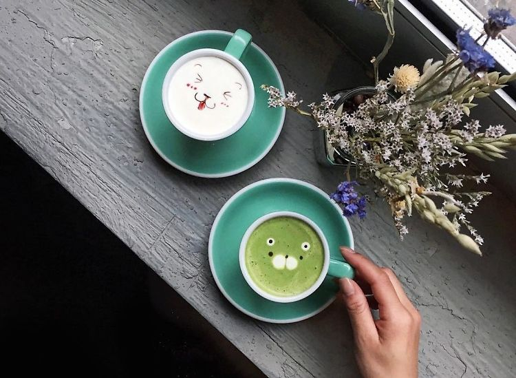 The Latte Art Is Too Cute To Drink At Sweet Moment NYC