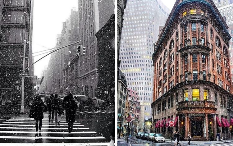 Better Late Than Never: An Instagram Recap Of NYC's First Snowfall Of 2016