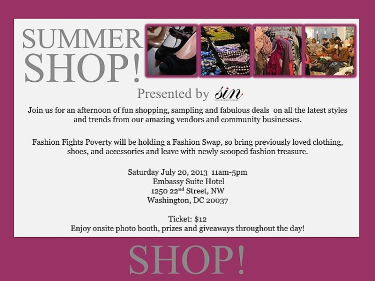 You're Invited: Summer Shop 2013 At The Embassy Suites Hotel