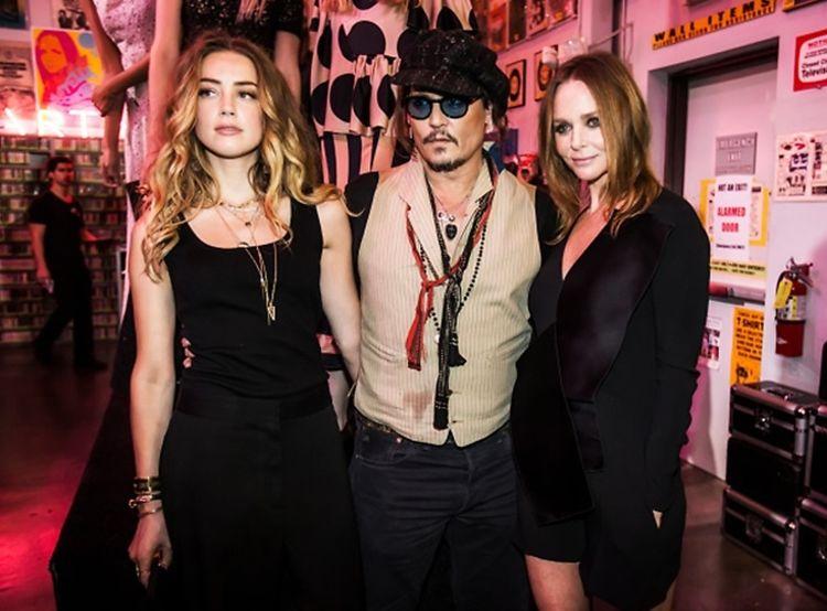 Johnny Depp, Amber Heard & Gwyneth Paltrow Party With Stella McCartney In Hollywood