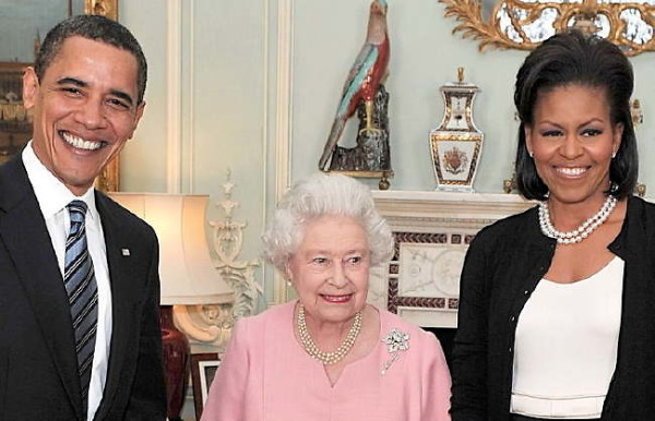 Barack Obama Michelle Obama Queen Elizabeth