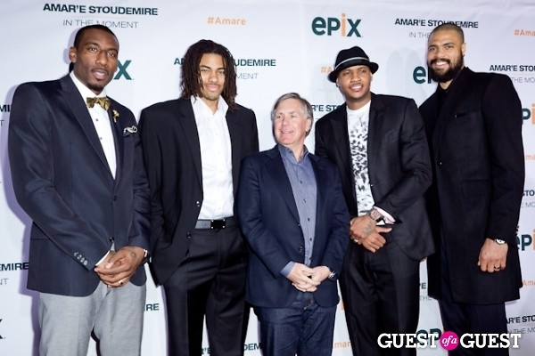 Carmelo Anthony Amare Stoudemire Mark Greenberg Tyson Chandler Chris Copeland