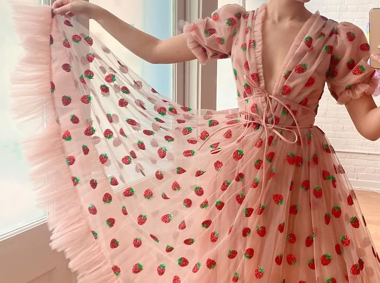 What This Summer's Viral Strawberry Dress Reveals About Quarantine ...