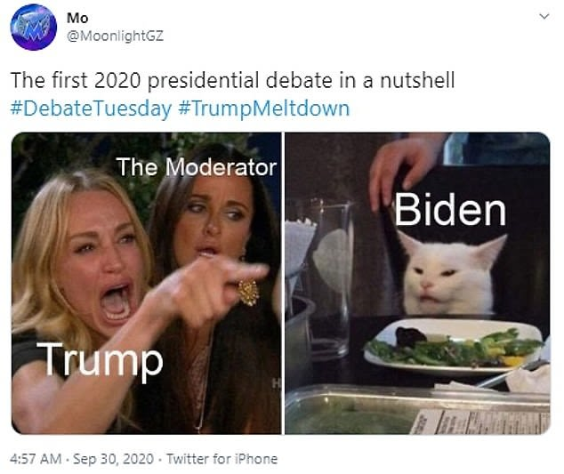 The Best Memes From The 2020 Us Presidential Debate Man Of Many
