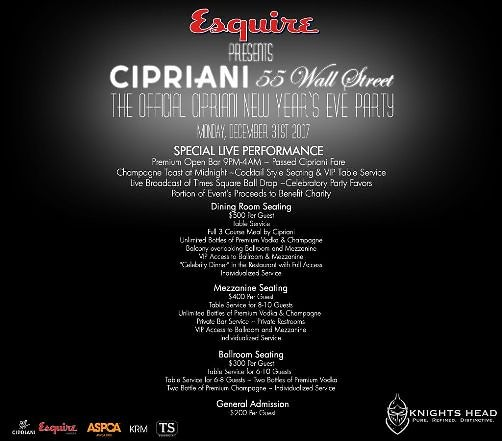 cipriani's new years