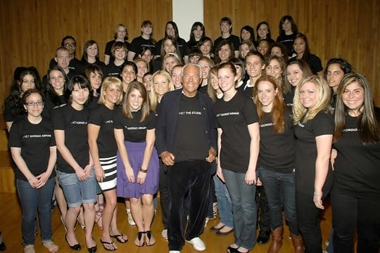 Giorgio Armani, the Fashion Institute of Technology