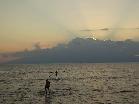 paddleboarding in Hawaii