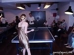 Lydia Hearst Playing Ping Pong At Soho House