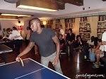 Naeem Delbridge Playing Ping Pong at Soho House