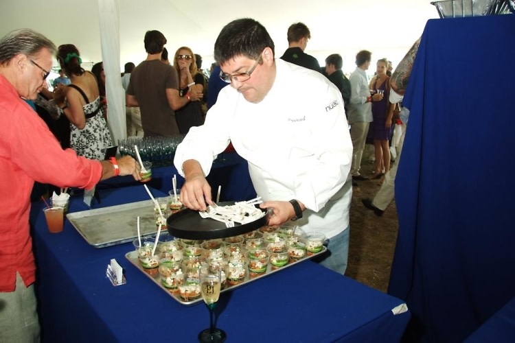 chef doug rodriguez at bridgehampton polo