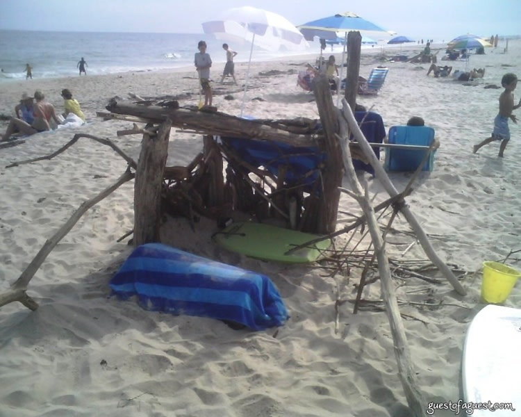 fort on amagansett beach