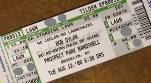 Bob Dylan Ticket