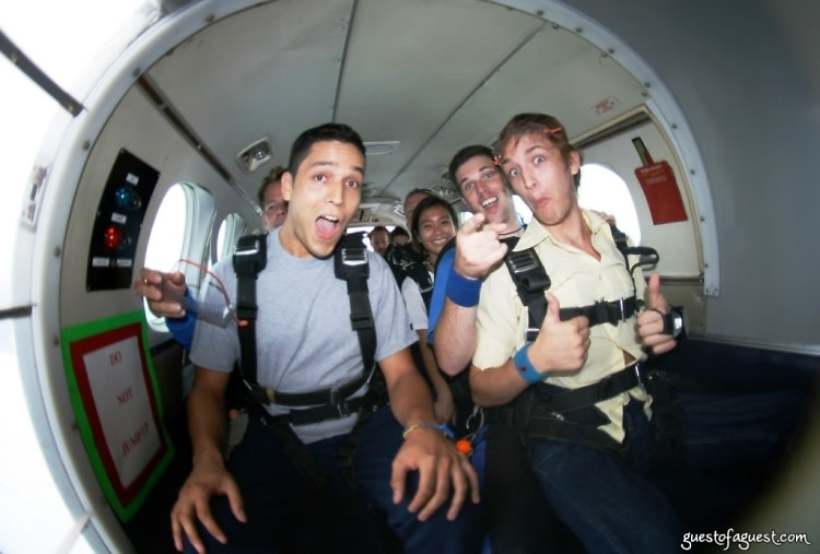 stephanie wei and liam mcmullan go skydiving