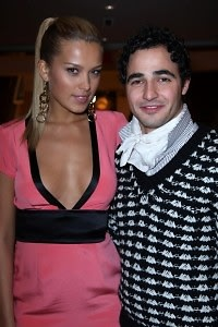petra nemcova with zac posen