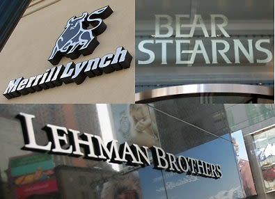 Merrill Lynch, Lehman Brothers, Bear Stears