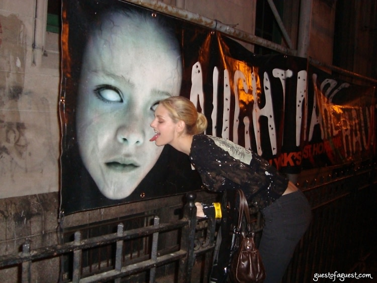 Lydia Hearst at Haunted House