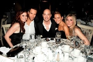 Debra Messing, Chris Diamantopoulos, David Evangelista, Becki Newton, Gina Glickman