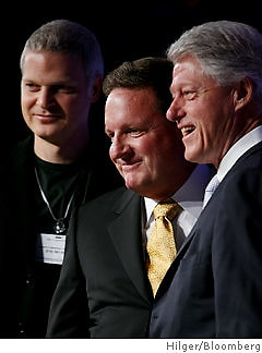 Steven Bing, Ron Burkle, Bill Clinton