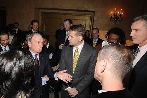 Mayor Michael Bloomberg, Bruce Anderson