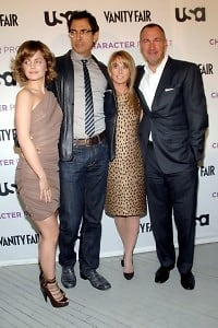 Mena Suvari, Jeff Goldblum, Bonnie Hammer, Edward Menicheschi