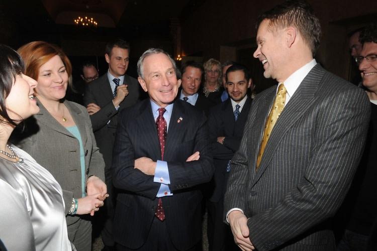 Christine Quinn, Mayor Michael Bloomberg, Bruce Anderson