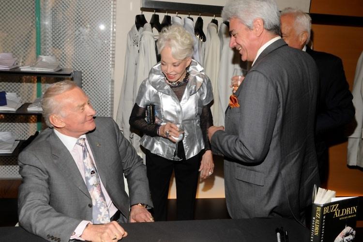 Buzz Aldrin, Lois Aldrin, David Sulzberger