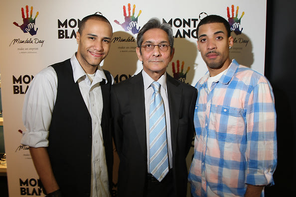 Manny Duran of Tha Heights, CEO of The Nelson Mandela Foundation Achmat Dangor and Winston Jerez of Tha Heights