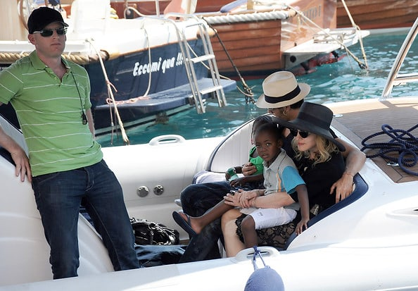 c92d4f9bb4 Later that day, Madonna, Jesus and the children were seen getting a boat  out to a yacht, owned by Domenico Dolce and Stefano Gabbana.