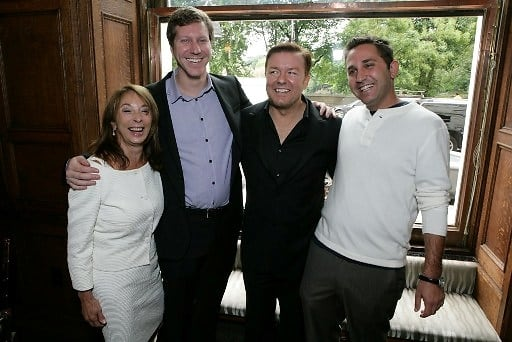 Lynda Obst, Matthew Robinson, Ricky Gervais, Oly Obst