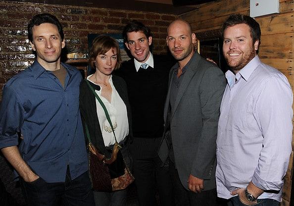 Ben Shenkman, actress Julianne Nicholson, actor/director John Krasinski, actor Corey Stoll, and producer Kevin Connor