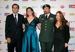 Bob Woodruff, Jeannette Mayer, DeWayne Mayer, and a guest