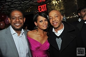 Forest Whitaker, Keisha Whitaker, Russell Simmons