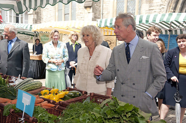 Charles and Camilla farmers market
