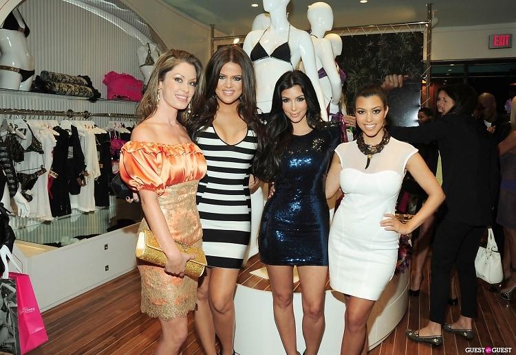 Angela Chittenden, Khloe Kardashian, Kim Kardashian, Kourtney Kardashian
