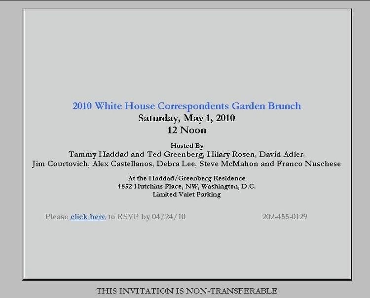 White House Correspondents Day Brunch