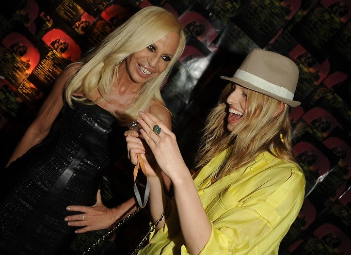 Donatella Versace and Karolina Kurkova