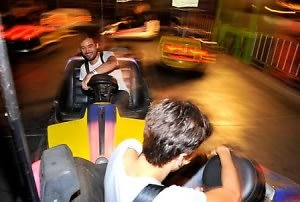 Alexander Wang's after-partygoers fool around in bumper cars.