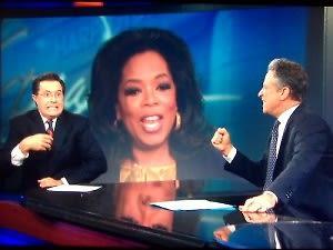 Stephen Colbert, Oprah Winfrey, Jon Stewart