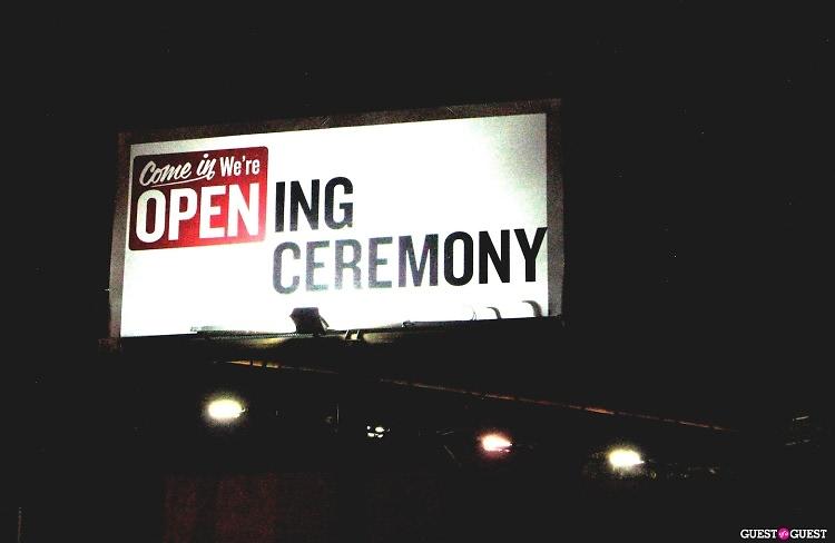 Opening Ceremony billboard
