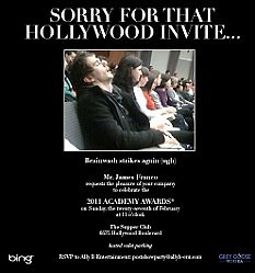James Franco Oscar Party invite