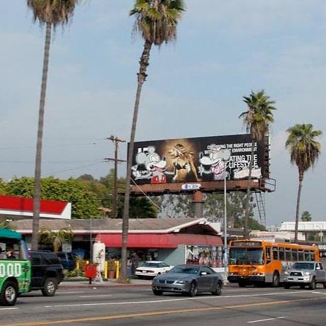 Banksy Billboard Sunset