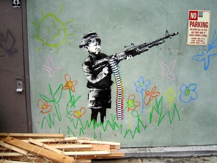 Banksy Crayon Boy