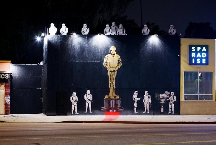 Mr. Brainwash Oscar mural
