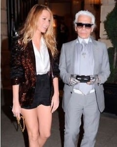 Blake Lively and Karl Lagerfeld. Chanel personified.